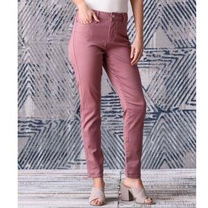 Seven7 8 High Rise Skinny Mauve Blush Pants NWT